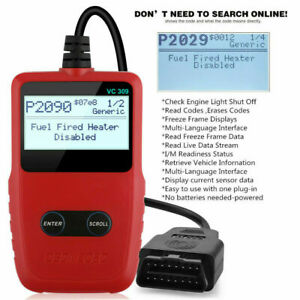 Auto Code Reader Obd2 Can Vehicle Tester Engine Diagnostic Scanner Tool Us