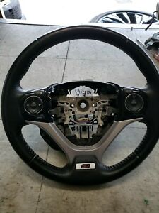 12 15 2012 2015 Honda Civic Si Oem Steering Wheel Si Red Stitching Fast Ship