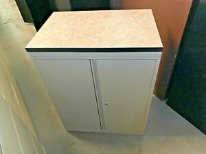 30 w X 39 1 2 h Storage Cabinet By Steelcase Office Furniture W Laminate Top