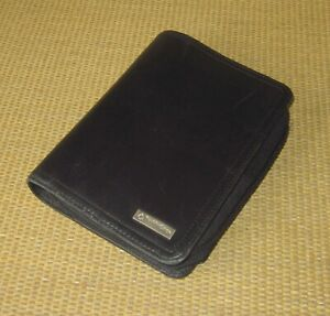 Pocket Franklin Covey Black Leather Unstructured 1 Rings Zip Planner binder