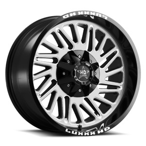 20x10 Lhd19 6x135 139 7 18 Gloss Black Machined Face Off Road Wheels Set Of 4