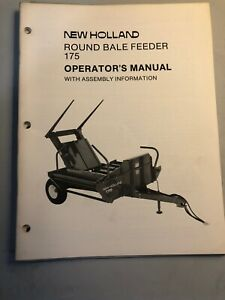 New Holland Round Bale Feeder 175 Operator s Manual 62 63