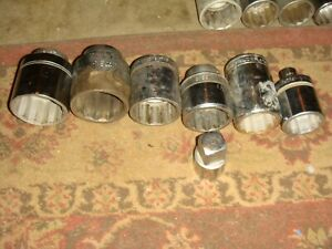 Lot Of 8 Large Size Sockets All 3 4 Williams Proto others 1 1 2 2 3 16