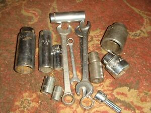 Lot Of 15 Mac Matco Brand Sockets And Wrenches Mostly 3 8 And 1 2 Drive