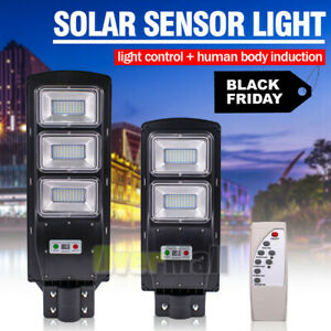 1500000LM Solar LED Street Light Commercial Outdoor IP67 Area Security Road Lamp $54.89