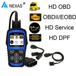 Obd2 Nl102 Plus Diesel Heavy Duty Truck Scanner Diagnostic Tool Dpf Regenerate