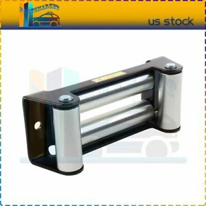 Heavy Duty 4 Way Roller Fairlead 10 Roller Cable Guid Universal For Winches