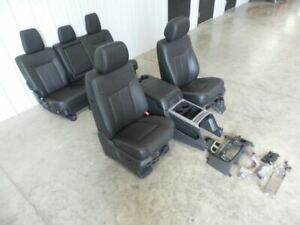 11 16 Ford F250 Leather Seats Crew Cab Seat Set W Console 514623