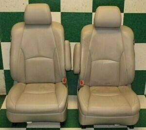 07 09 Rx350 Gray Leather Dual Power Electric Bucket Interior Seats Side Airbags