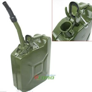 10l 2 5 Gallon Jerry Can Gas Fuel Steel Tank Green Military Nato Style