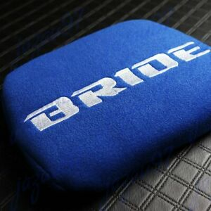 Blue Tuning Pad For Head Rest Cushion Bucket Seat Racing Jdm Bride Racing 1pc