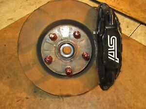 2008 2017 Subaru Wrx Sti Brembo Brakes Caliper Disc Spindle Hubs 08 17 Left Side