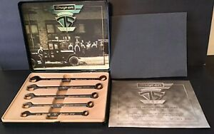 Snapon Limited Edition 75th Anniversary 5 Pc Wrench Set Black Chrome Oex705banvx