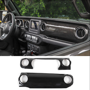 Carbon Fiber Car Dashboard Trim Cover Decorative Panel For 2020 Jeep Gladiator