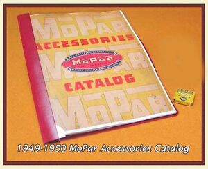 Vintage 1949 Mopar Accessory Catalog Chrysler Plymouth Desoto Dodge Imperial
