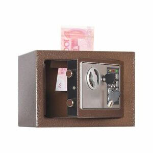 Wall Safe Deposit Box Bedside Table Password With Lock Insurance Box House Gift