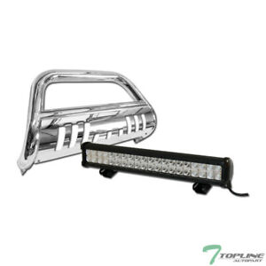 Topline For 2009 2018 Dodge Ram 1500 Stainless Bull Guard With 120w Cree Led Bar