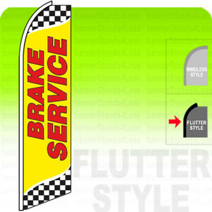 Brake Service Swooper Flag Feather Banner Sign 11 5 Tall Flutter Style Yb