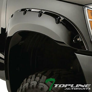 Topline For 2007 2014 Toyota Fj Cruiser Pocket Rivet Style Fender Flares 6p blk