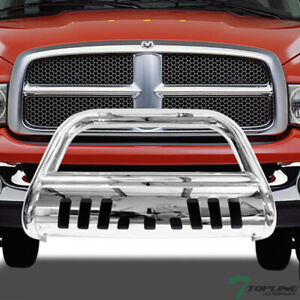 Topline For 2002 2009 Dodge Ram Bull Bar Bumper Grill Grille Guard Stainless