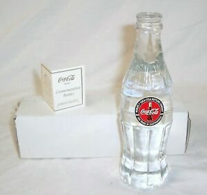 COCA COLA 100 YEARS IN CHATTANOOGA 1899-1999 LIMITED ED CRYSTAL BOTTLE 1043/1999