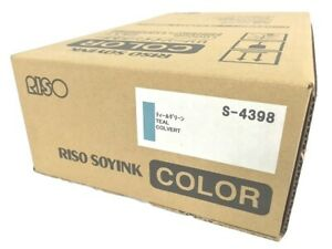 Risograph S 4398 Teal Ink Cartridge Bx 2