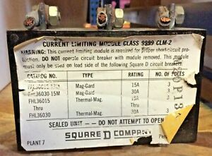 Square D 9999 Clm 2 Contactor Current Limiting Module 600v 3 pole Used