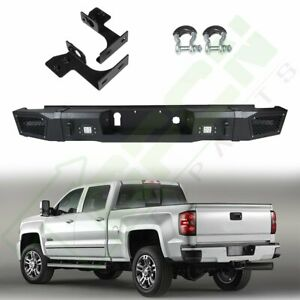 Step Rear Bumper Assembly For Chevrolet Silverado 2500 2017 led Lights Truck