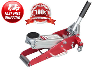 Car Auto Floor Jack Aluminum Steel Low Profile Rapid Lift 1 5 Ton Compact Size