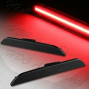 For 2015 2020 Ford Mustang Smoke Lens Led Rear Bumper Side Marker Lights Lamp