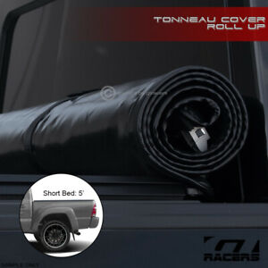 For 2005 2015 Toyota Tacoma 5 Ft 60 Bed Lock Roll Up Soft Vinyl Tonneau Cover