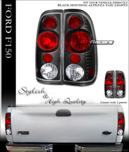 For 1997 2003 Ford F150 F250 F350 Styleside Black Altezza Tail Lights Lamps Ks