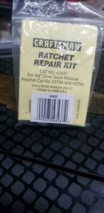 Craftsman 3 8 In Dr Rachet Repair Kit 43437 For Rachet Numbers 43784 And 43785