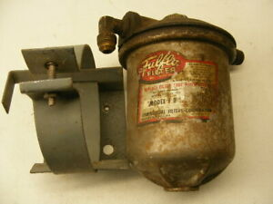 Vintage Fulflo Filter Model F B And Mounting Bracket Rat Rod Gasser Hot