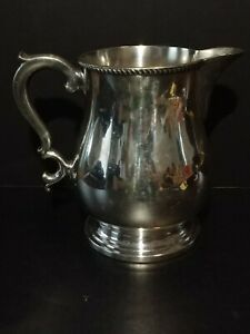 Antique Poole Silver Co Collectable Epns Silverplate Serving Pitcher 1305