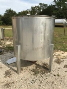 500 Gallon 316 Stainless Steel Tank W Pneumatic Mixer Hinged Lid Cone Bottom 6