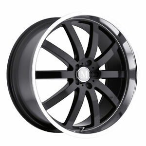1 New Tsw Mandrus Wilhelm Wheel Rim 20x10 5x112 Gloss Black W Mirror Cut Lip