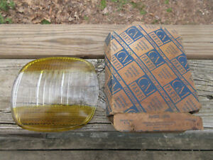 1941 Buick 5931958 New Accessory Amber Clear Guide Fog Lamp Light Lens 5 3 4