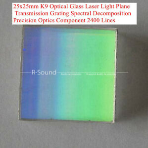 525x25mm K9 Optical Glass Laser Plane Transmission Grating 2400