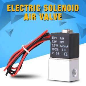 12v 1 4 2 Way Normally Closed Pneumatic Electric Solenoid Air Valve Aluminum