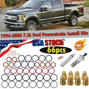 66pcs 1994 2003 7 3l Ford Powerstroke Injector Sleeve Cup Removal Install Kits