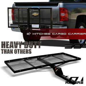 Black Mesh Foldable Trailer Hitch Luggage Cargo Carrier Rack Hauler Tray 59 G10