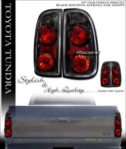For 2000 2004 Toyota Tundra Black Housing Altezza Tail Lights Rear Brake Lamps