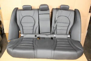 Mercedes C Class W205 2015 19 Rear Leather Seats Upper Lower Seat Cushion Black
