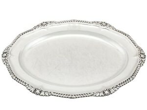 Antique George Iv Sterling Silver Platter By Paul Storr 1825