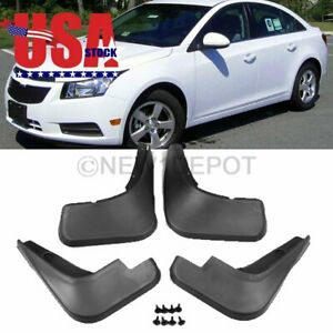 Us Abs Mud Flaps Splash Guards Fender Front Rear For 2009 2015 Chevy Cruze Sedan