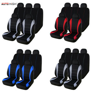 Universal Car Seat Covers Full Set Front Rear Headrests Cover For Truck Suv Van