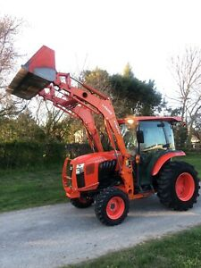 Kubota L6060 Farm Tractor Cab Pto 4x4 Loader Diesel Radio Heat Air Conditioning