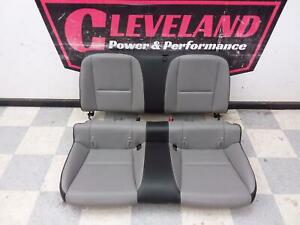 2010 2015 Camaro Ss Coupe Oem Rear Seats Seat Top Bottom Leather Gray