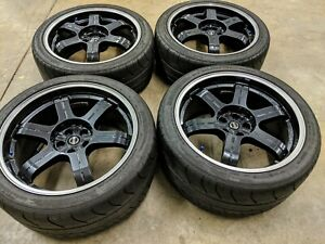 Genuine 20 Forged Rays Nissan Gt r Black Edition Wheels Tires 62629 62700 Oem